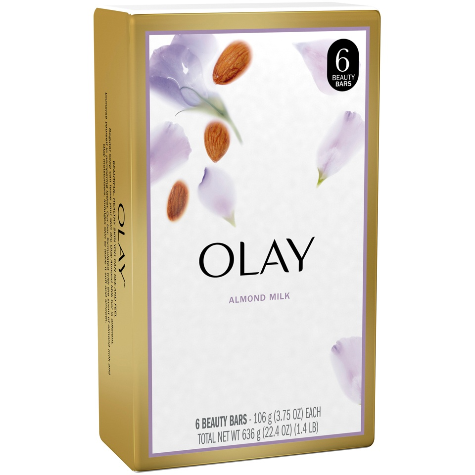 slide 3 of 4, Olay Hydrating Clean Almond Milk Beauty Bars,