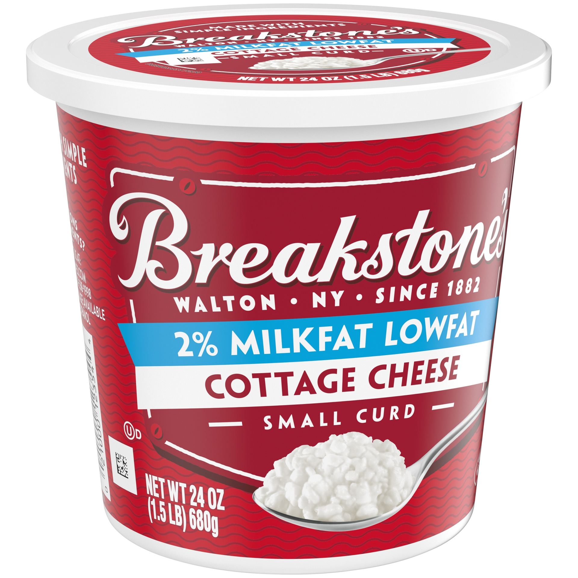slide 2 of 6, Breakstone's Small Curd 2% Milkfat Cottage Cheese,
