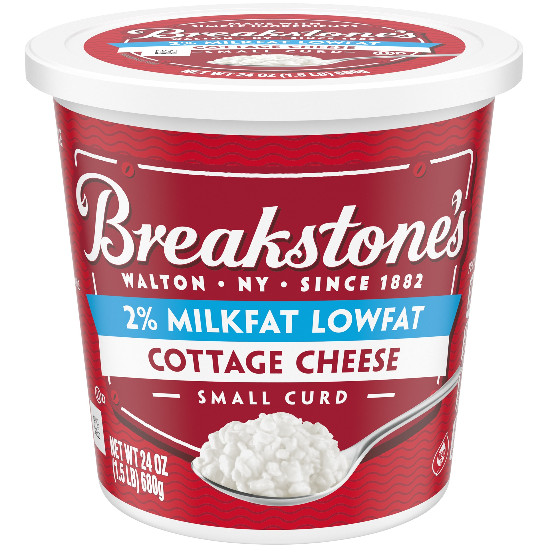 slide 1 of 6, Breakstone's Small Curd 2% Milkfat Cottage Cheese,