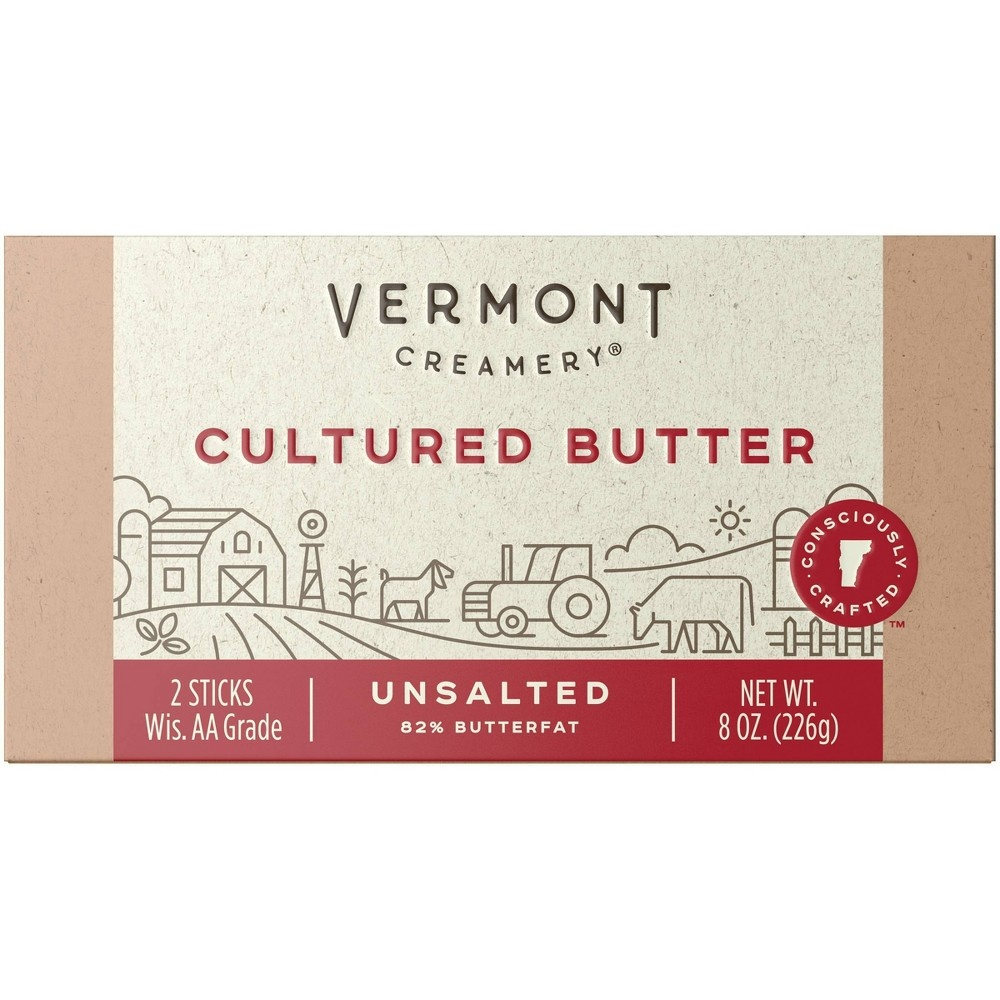 slide 2 of 9, Vermont Creamery Stick Butter Unsalted,