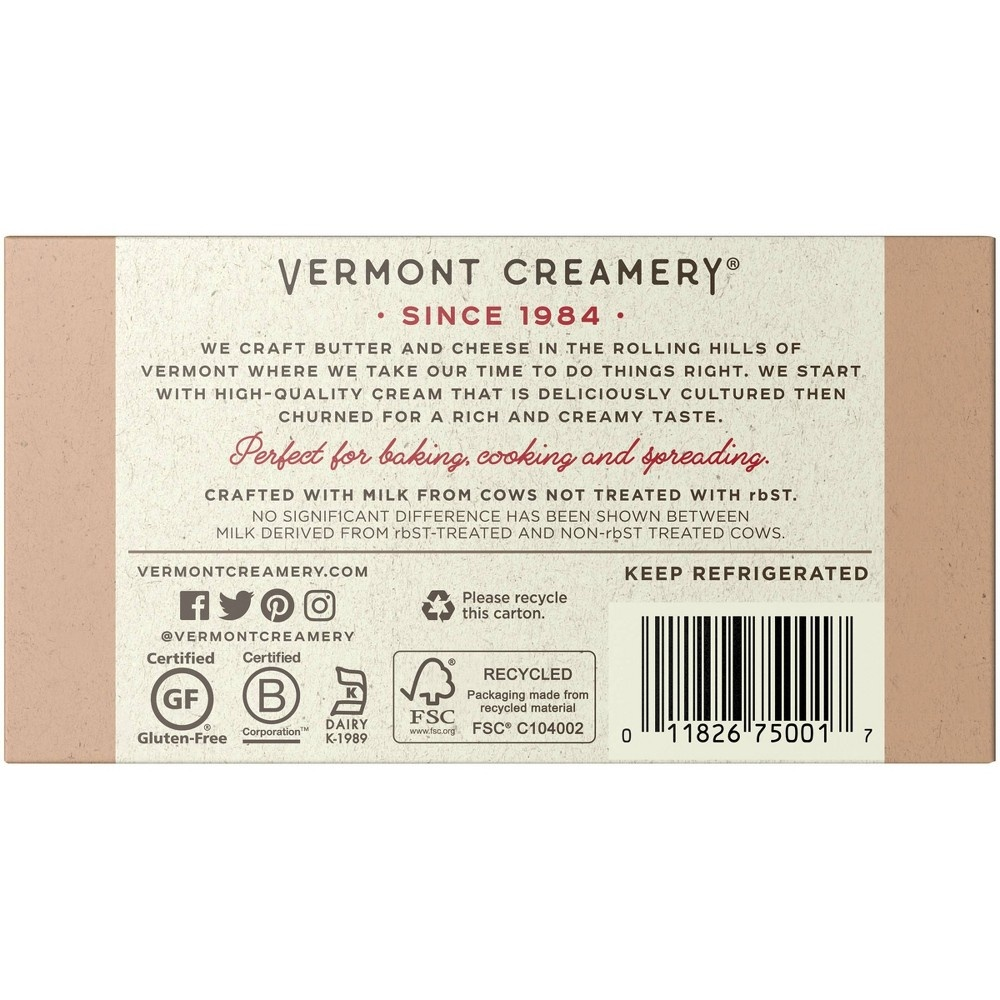 slide 3 of 9, Vermont Creamery Stick Butter Unsalted,