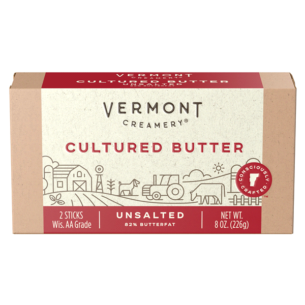 slide 1 of 9, Vermont Creamery Stick Butter Unsalted,