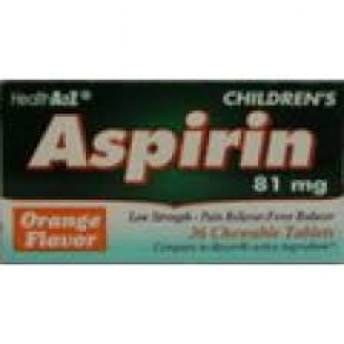 slide 1 of 1, Health Care Low Strength Adult Chew Aspirin 81 Mg,