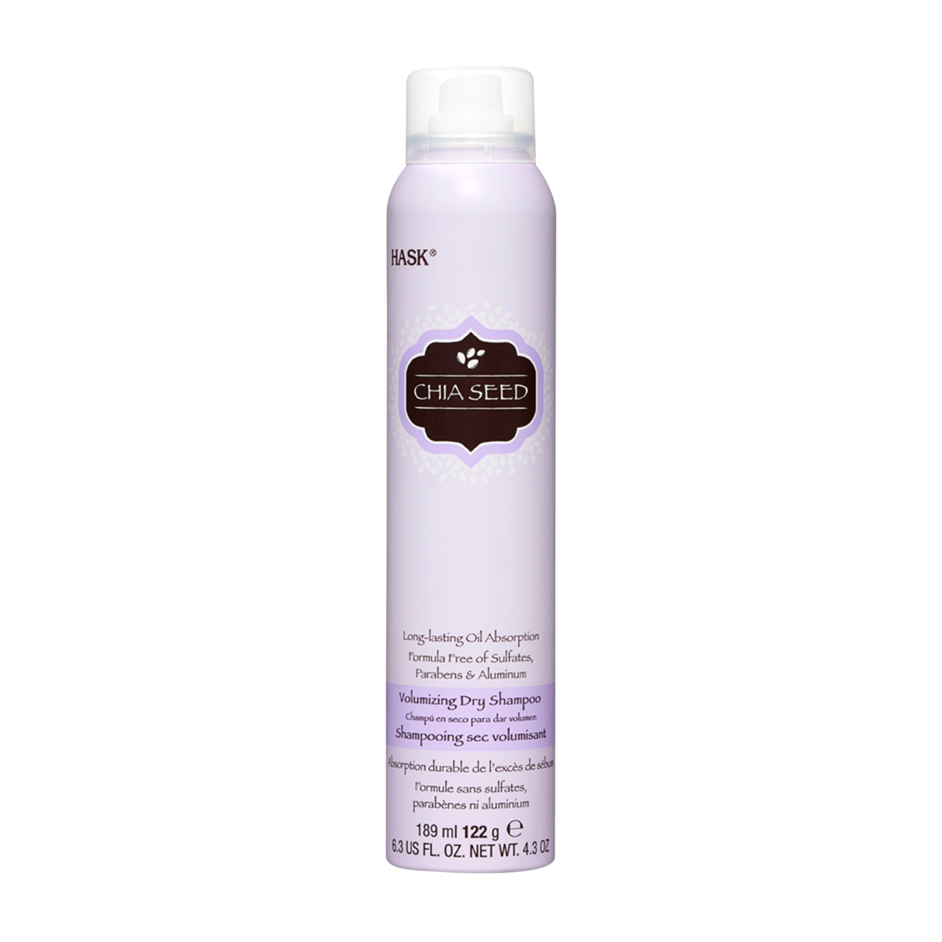 slide 1 of 4, Hask Sulfate-Free and Paraben-Free Chia Seed Volumizing Dry Shampoo,