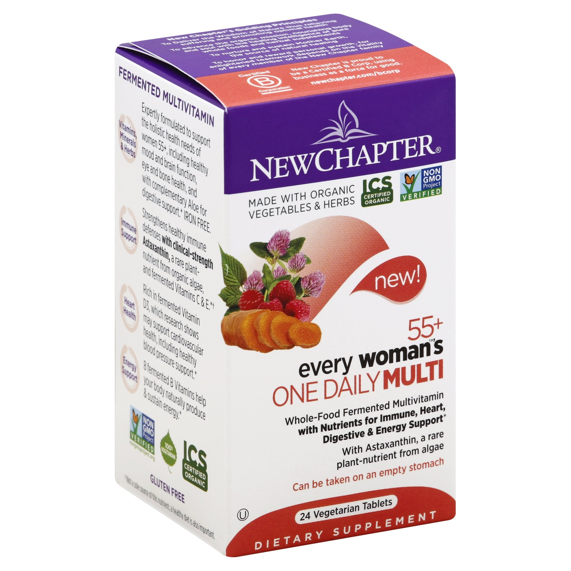 slide 1 of 2, New Chapter 55+ Every Woman's One Daily Multivitamin Tablets,