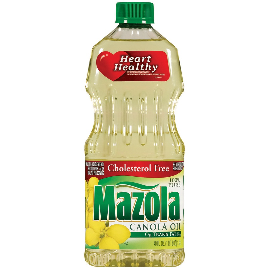 slide 1 of 3, Mazola Canola Oil,