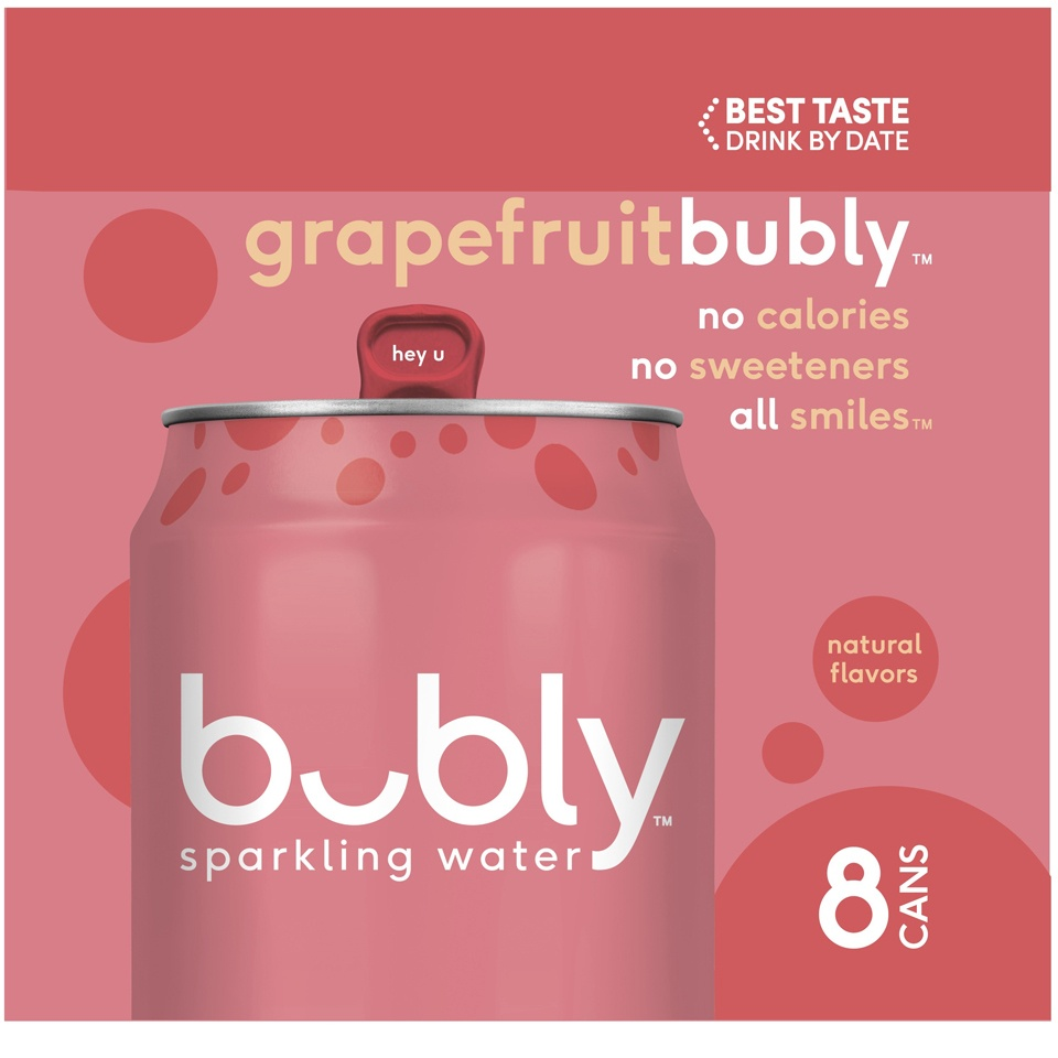 slide 2 of 4, bubly Grapefruit Sparkling Water,