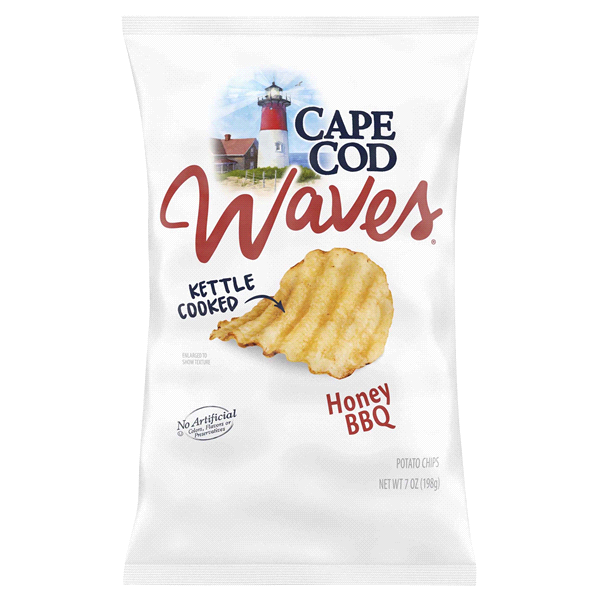 slide 1 of 1, Cape Cod Waves Honey BBQ Chips,