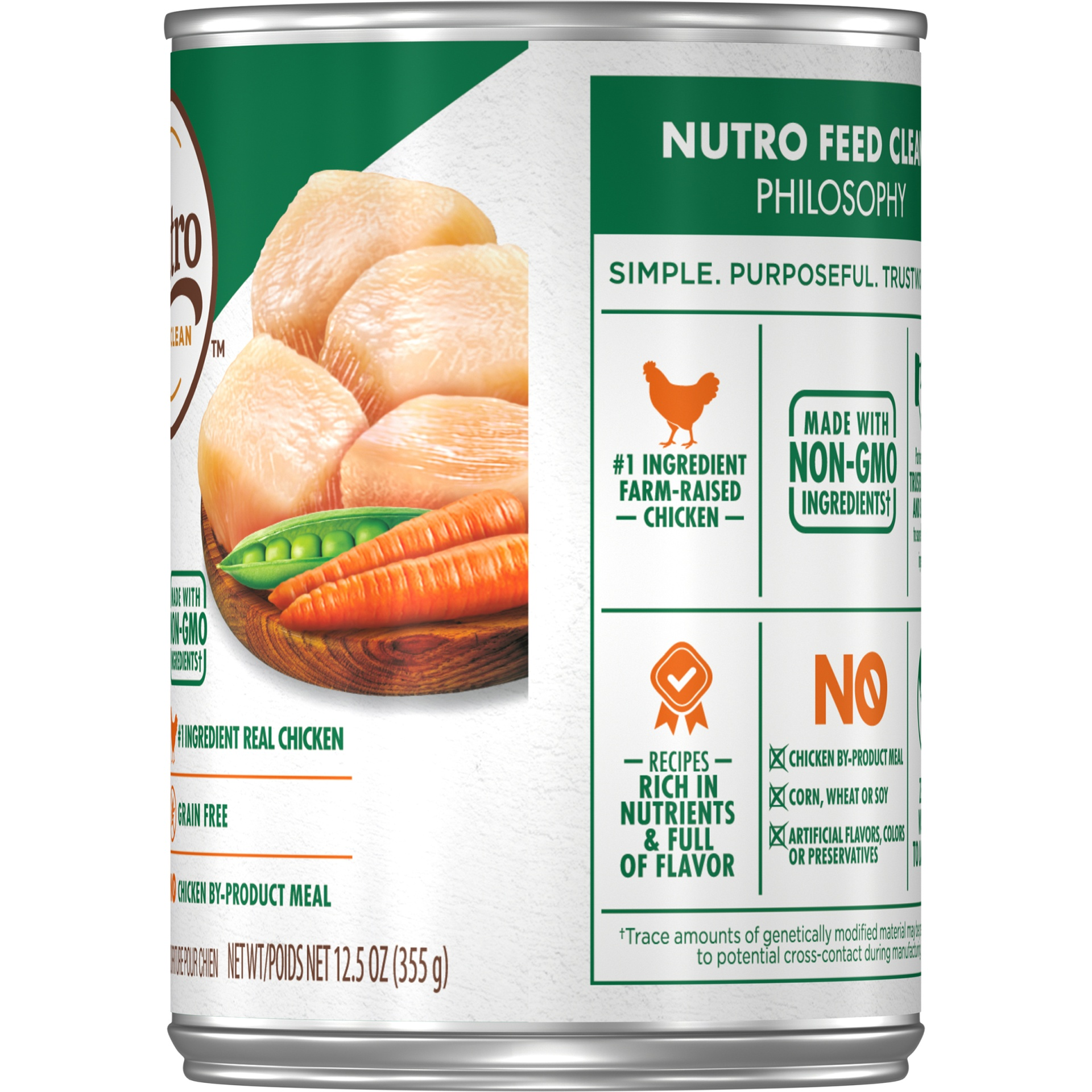 slide 3 of 7, Nutro Hearty Chicken Carrot & Pea Stew Wet Dog Food,
