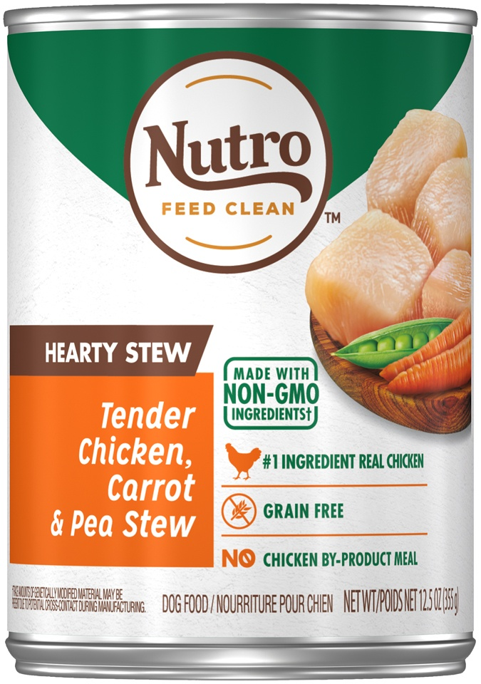 slide 1 of 7, Nutro Hearty Chicken Carrot & Pea Stew Wet Dog Food,