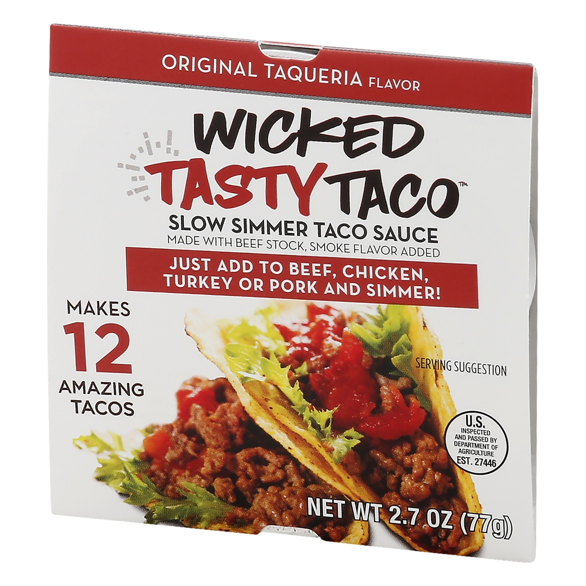 slide 3 of 10, Kitchen Accomplice Wicked Tasty Taco Original Taqueria Slow Simmer Taco Sauce,