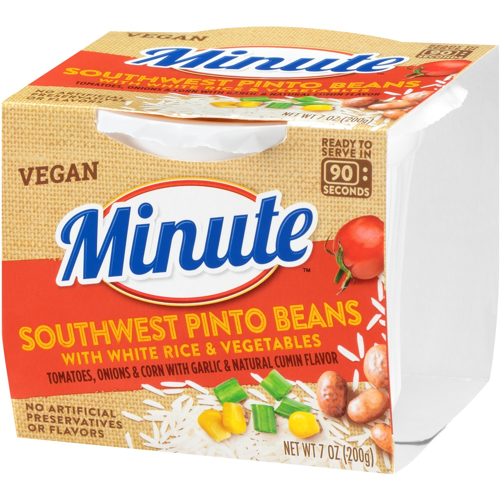 slide 3 of 8, Minute Southwest Pinto Beans With White Rice & Vegetables,