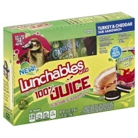 slide 1 of 8, Lunchables 100% Juice Turkey & Cheddar Sub Sandwich,
