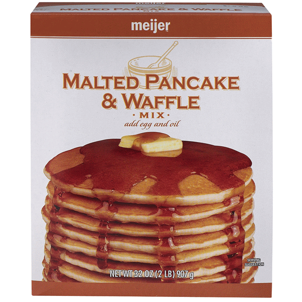 slide 1 of 1, Meijer Malted Pancake & Waffle Mix,