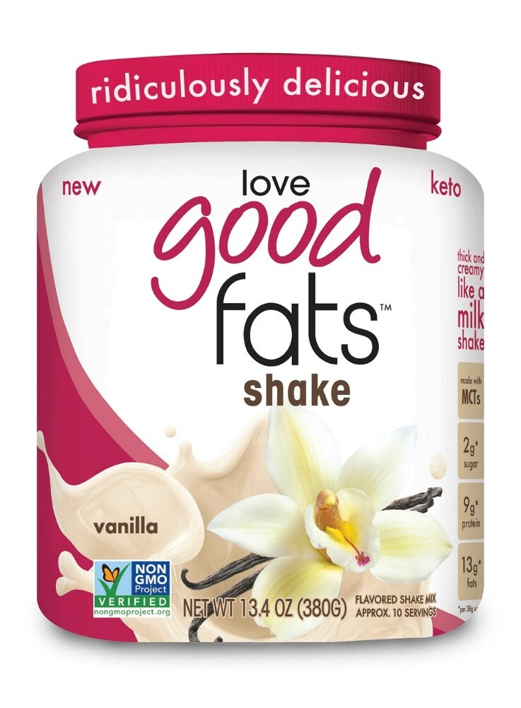 slide 1 of 1, Love Good Fats Vanilla Flavored Shake Mix,