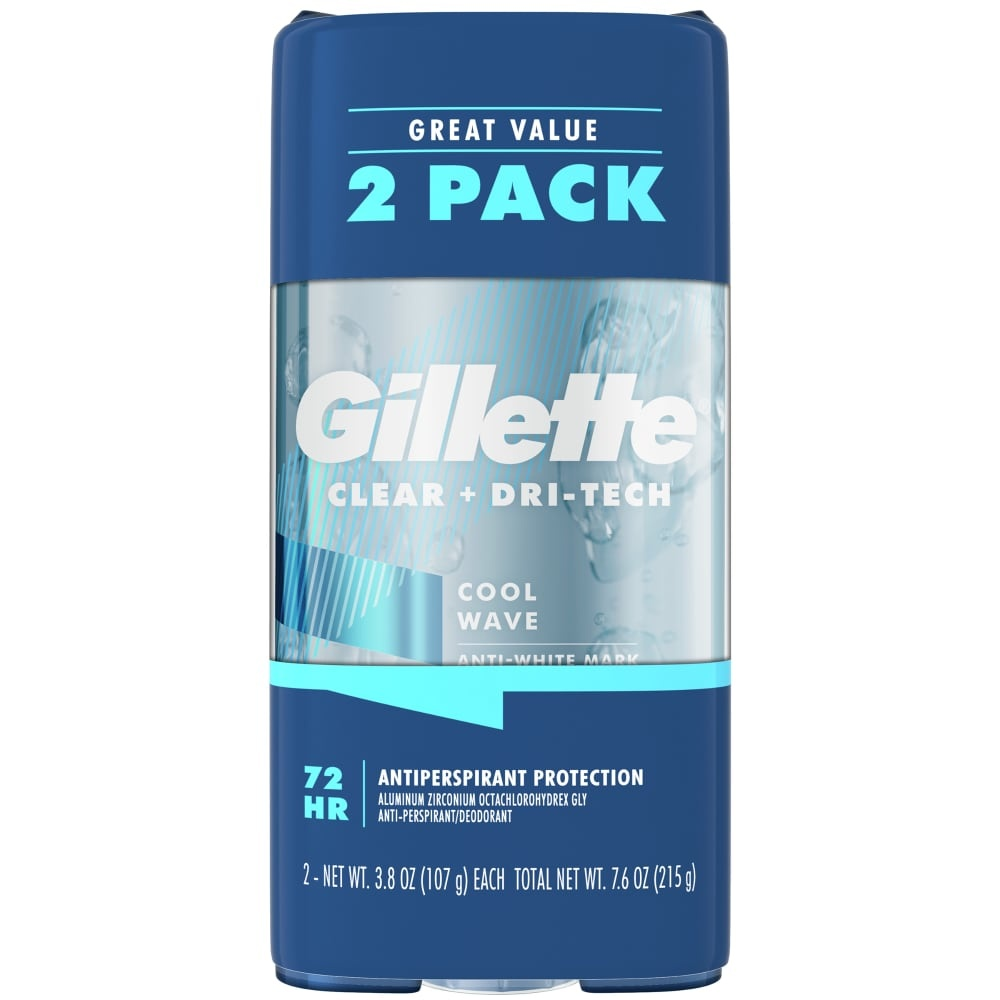 slide 1 of 6, Gillette Cool Wave Clear Gel Antiperspirant And Deodorant Twin Pack,