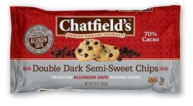 slide 1 of 1, Chatfield's Double Dark Semi Sweet Chips,