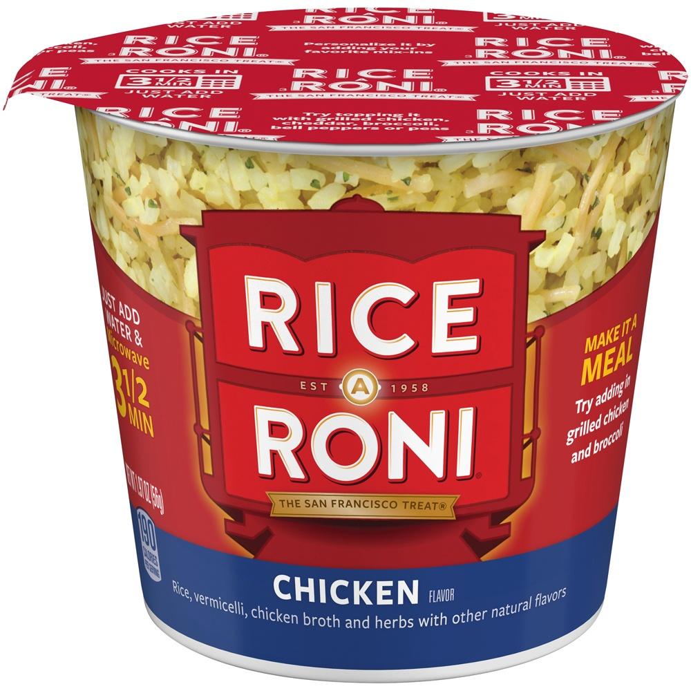 slide 2 of 4, Rice-A-Roni Instant Chicken Flavor Rice Cup,