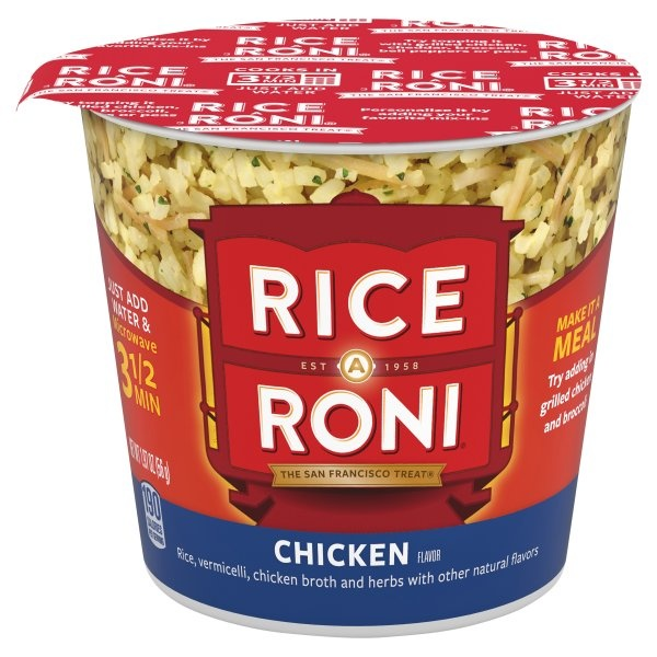 slide 1 of 4, Rice-A-Roni Instant Chicken Flavor Rice Cup,