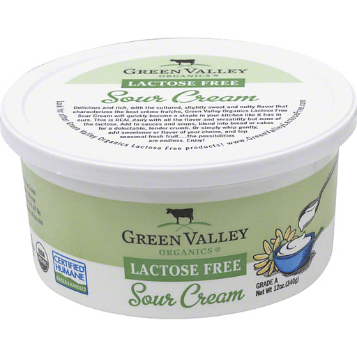 slide 2 of 2, Green Valley Creamery Organic Gluten Free Sour Cream,