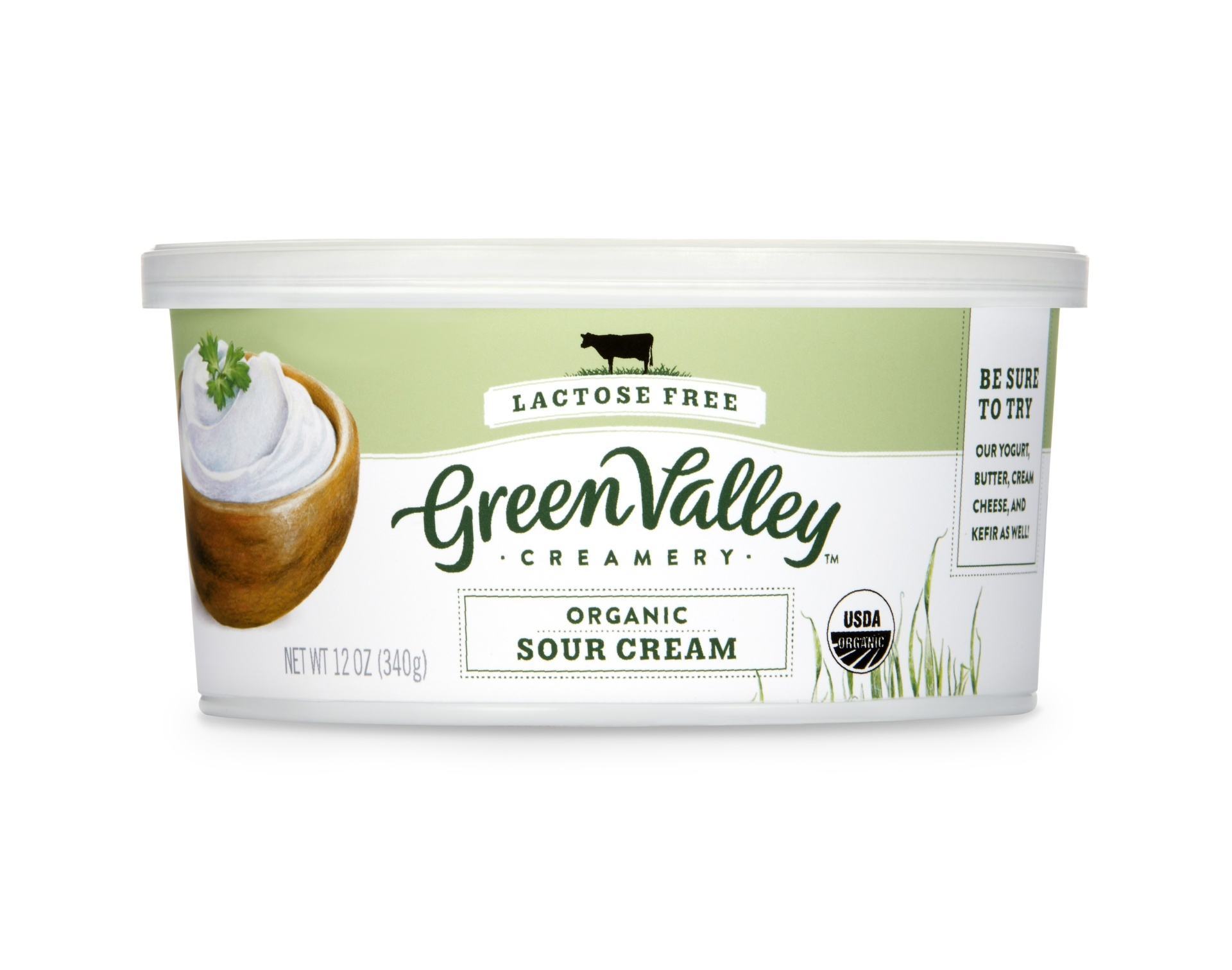 slide 1 of 2, Green Valley Creamery Organic Gluten Free Sour Cream,
