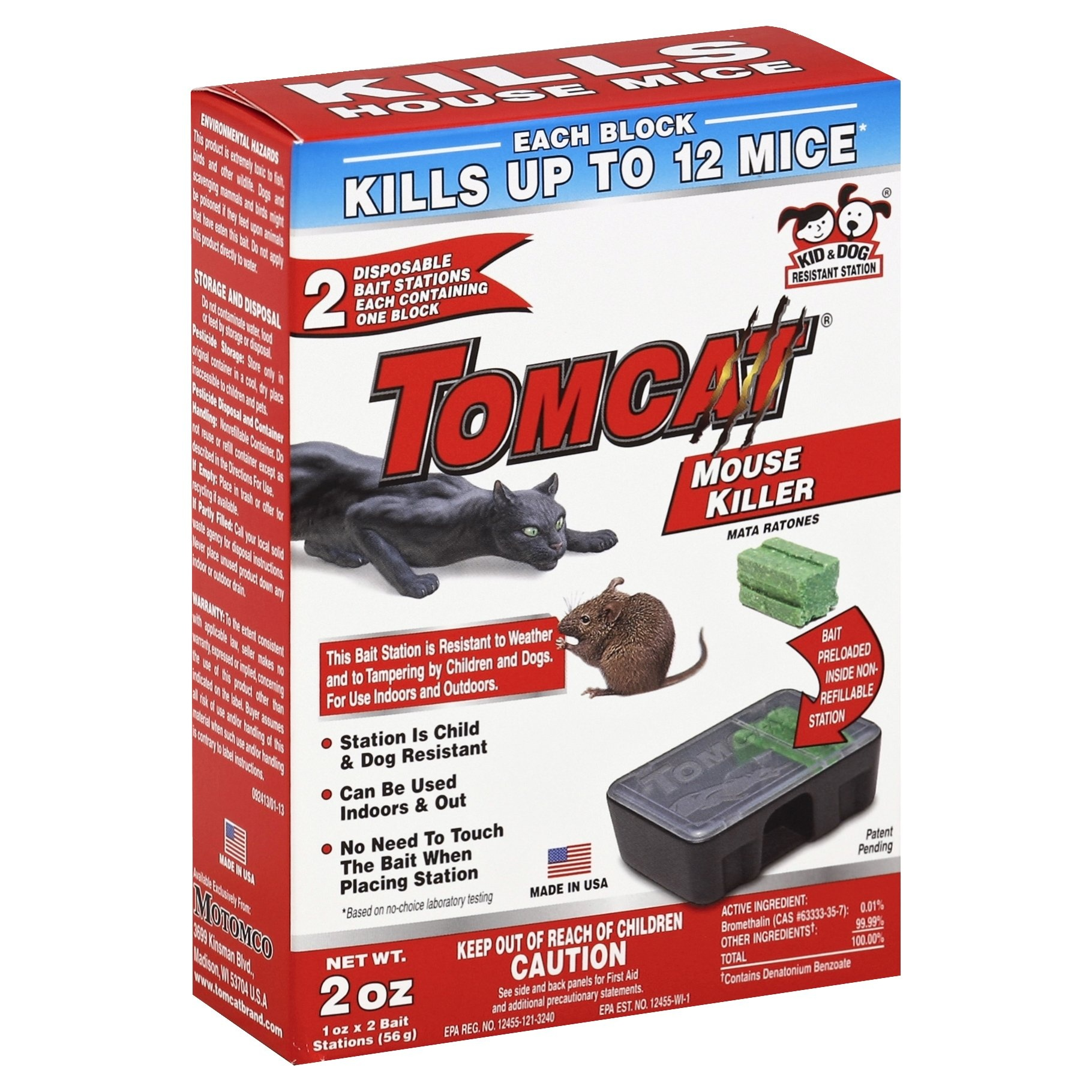 slide 1 of 1, Tomcat Disposable Mouse Bait Stations,