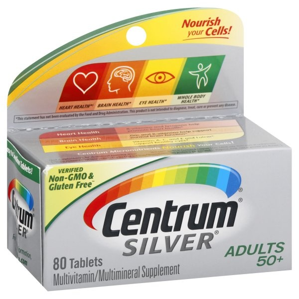 slide 1 of 4, Centrum Silver Adults Multivitamin,