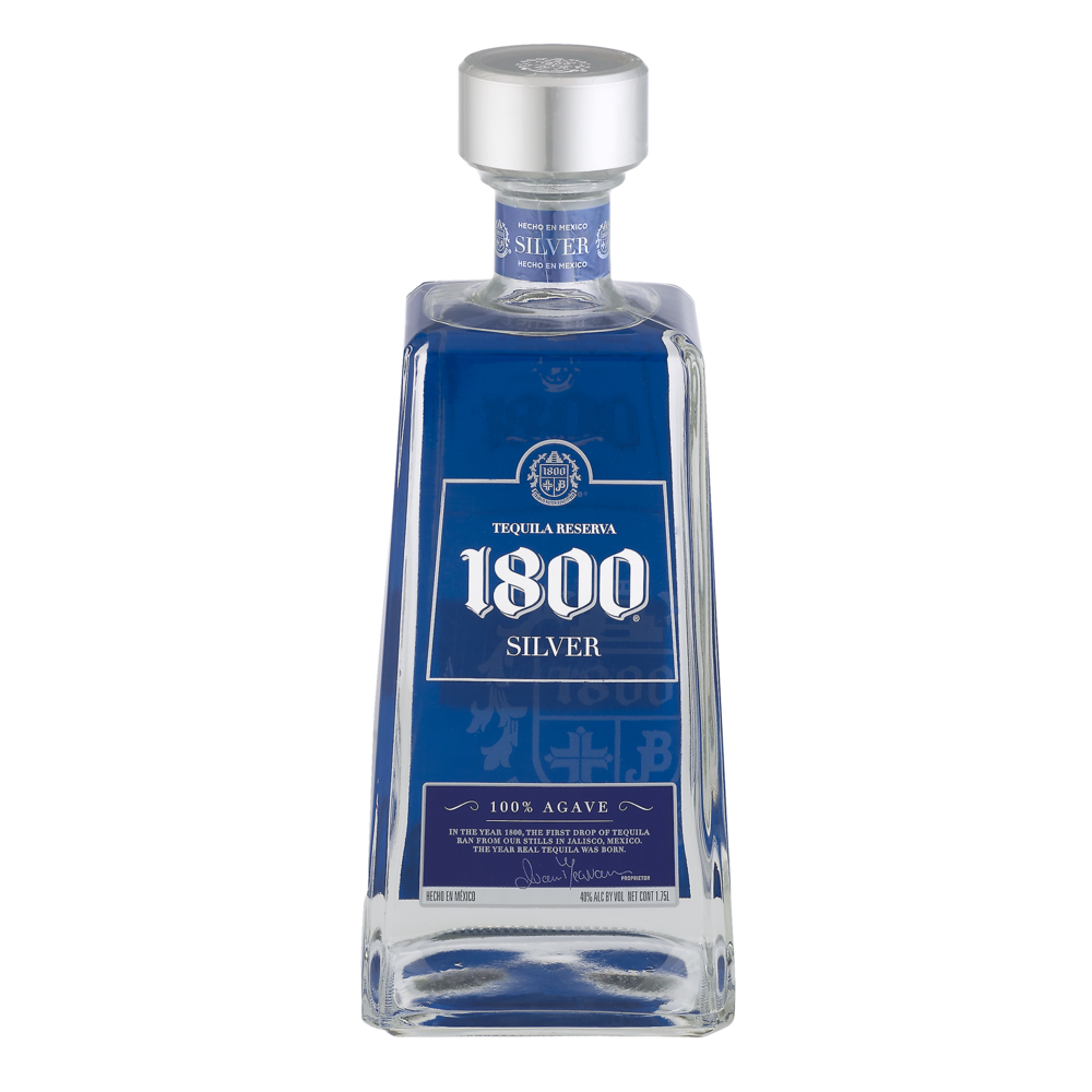 slide 1 of 1, 1800 Silver Tequila Reserva,