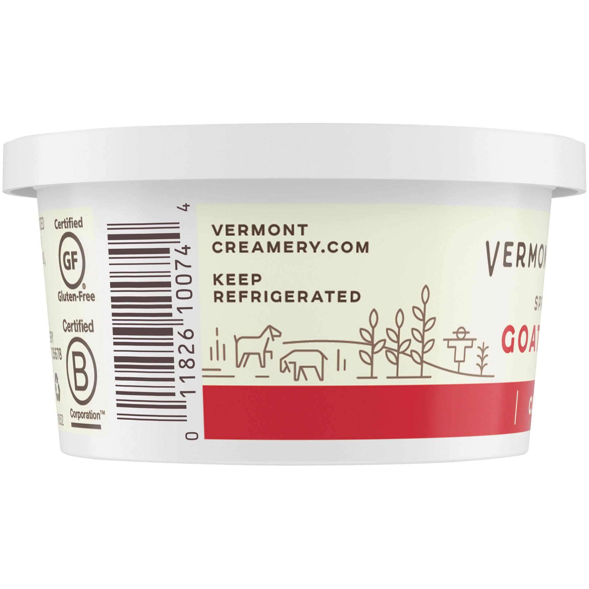 slide 5 of 8, Vermont Creamy Spreadable Goat Cheese,