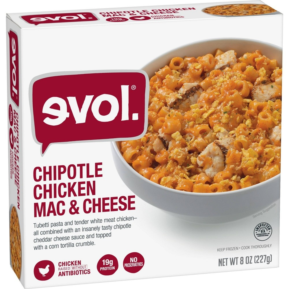 slide 2 of 2, Evol Chipotle Chicken Mac & Cheese,