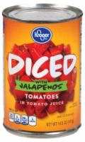 slide 1 of 1, Kroger Diced Tomatoes With Jalapeno Peppers,