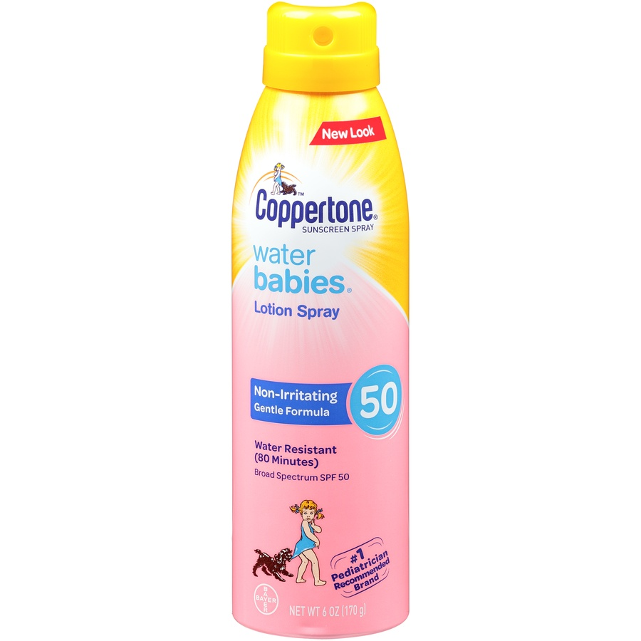 slide 1 of 2, Coppertone Waterbabies Sunscreen Lotion Spray Spf,