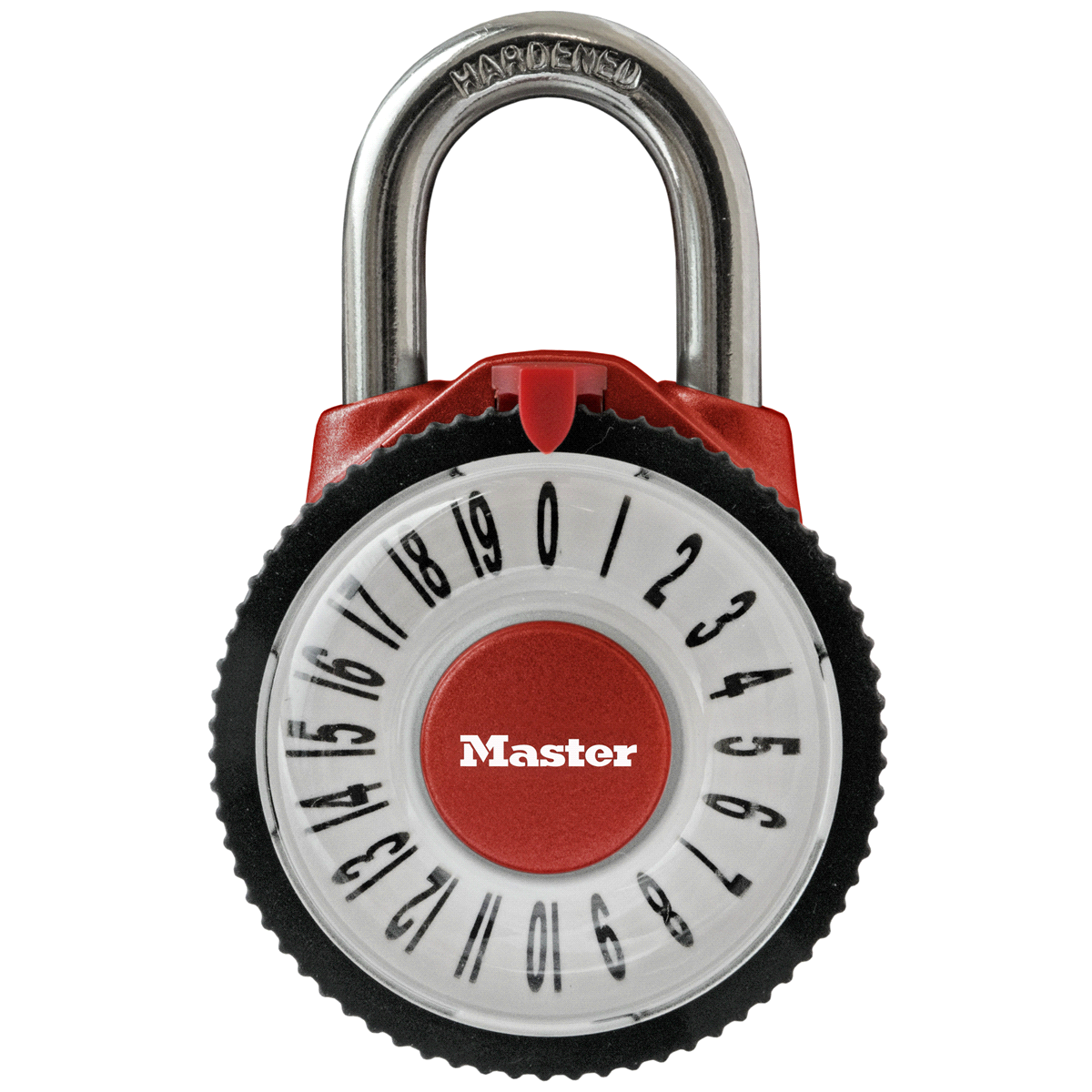 slide 3 of 4, Master Lock Magnification Dial Combination Padlock 1588D, 2-1/8 inch wide,
