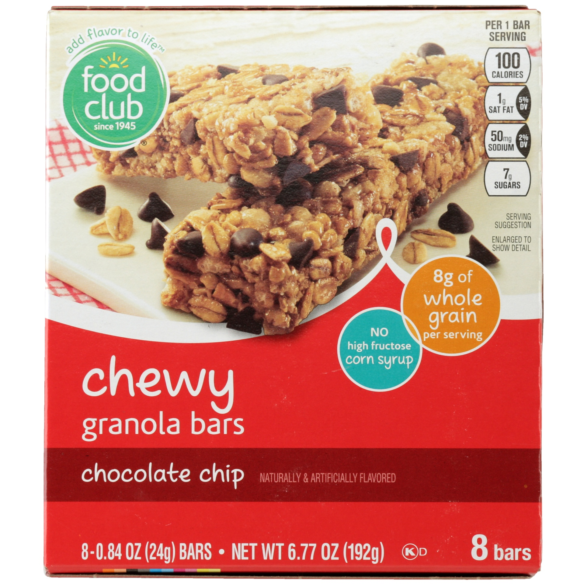 slide 3 of 6, Food Club Chocolate Chip Chewy Granola Bar,