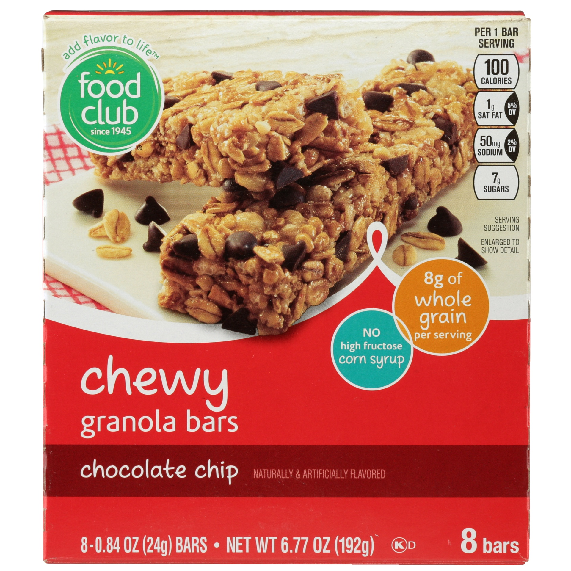 slide 1 of 6, Food Club Chocolate Chip Chewy Granola Bar,