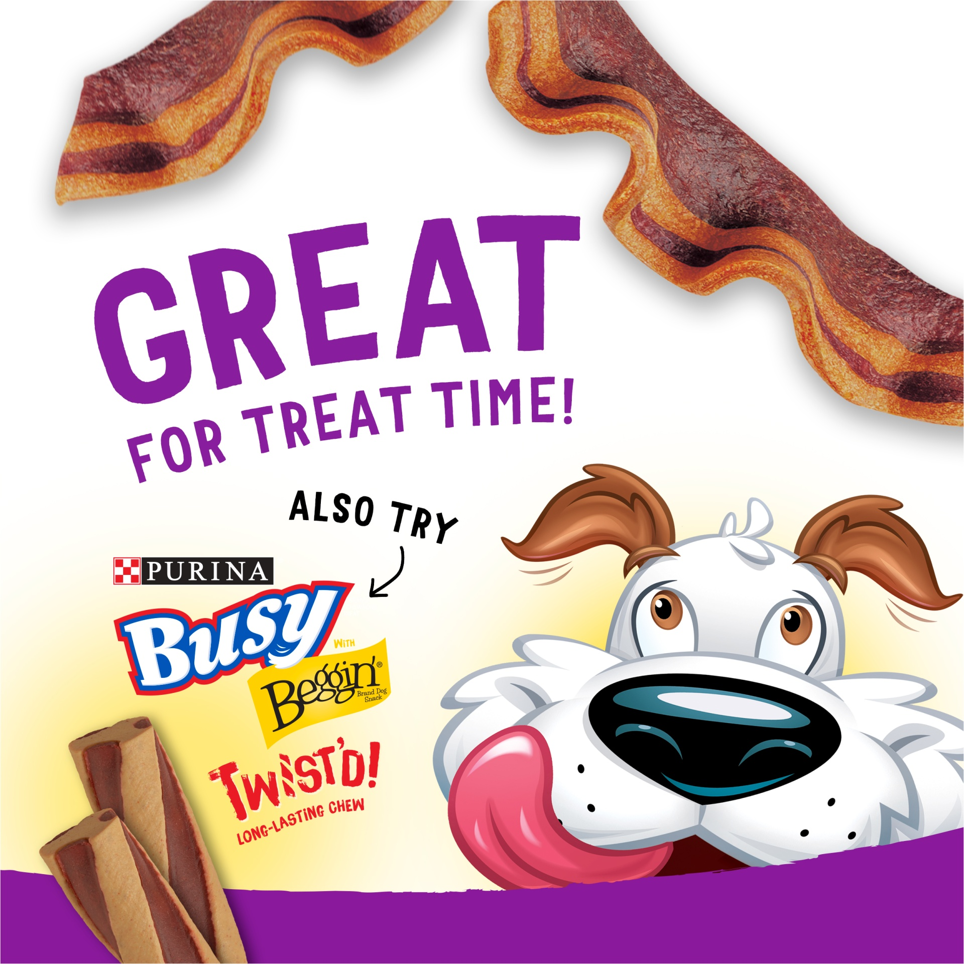 slide 5 of 6, Purina Beggin' Strips Bacon & Peanut Butter Flavors Dog Snacks,