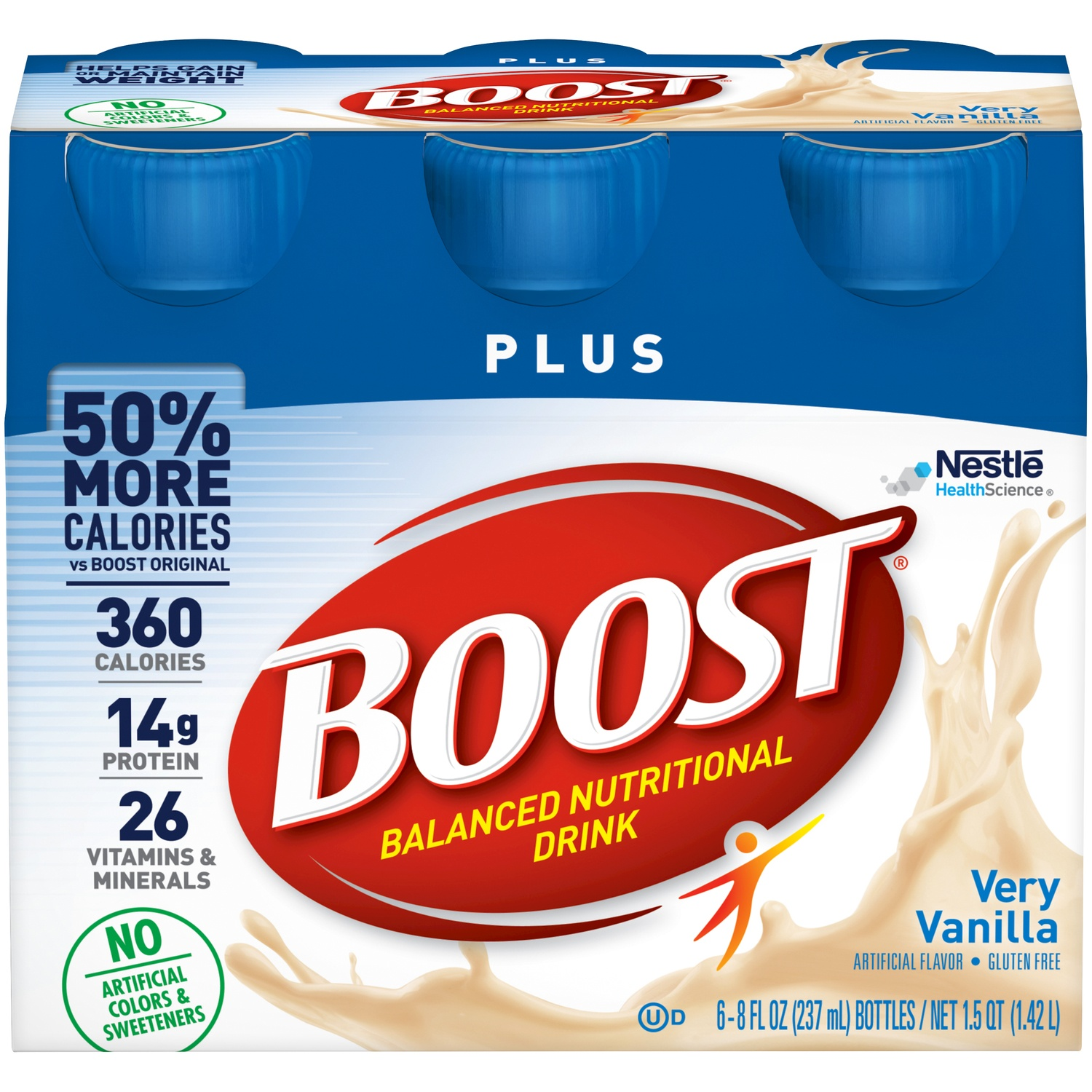 slide 2 of 9, Boost  Plus Complete Nutritional Drink - Vanilla,