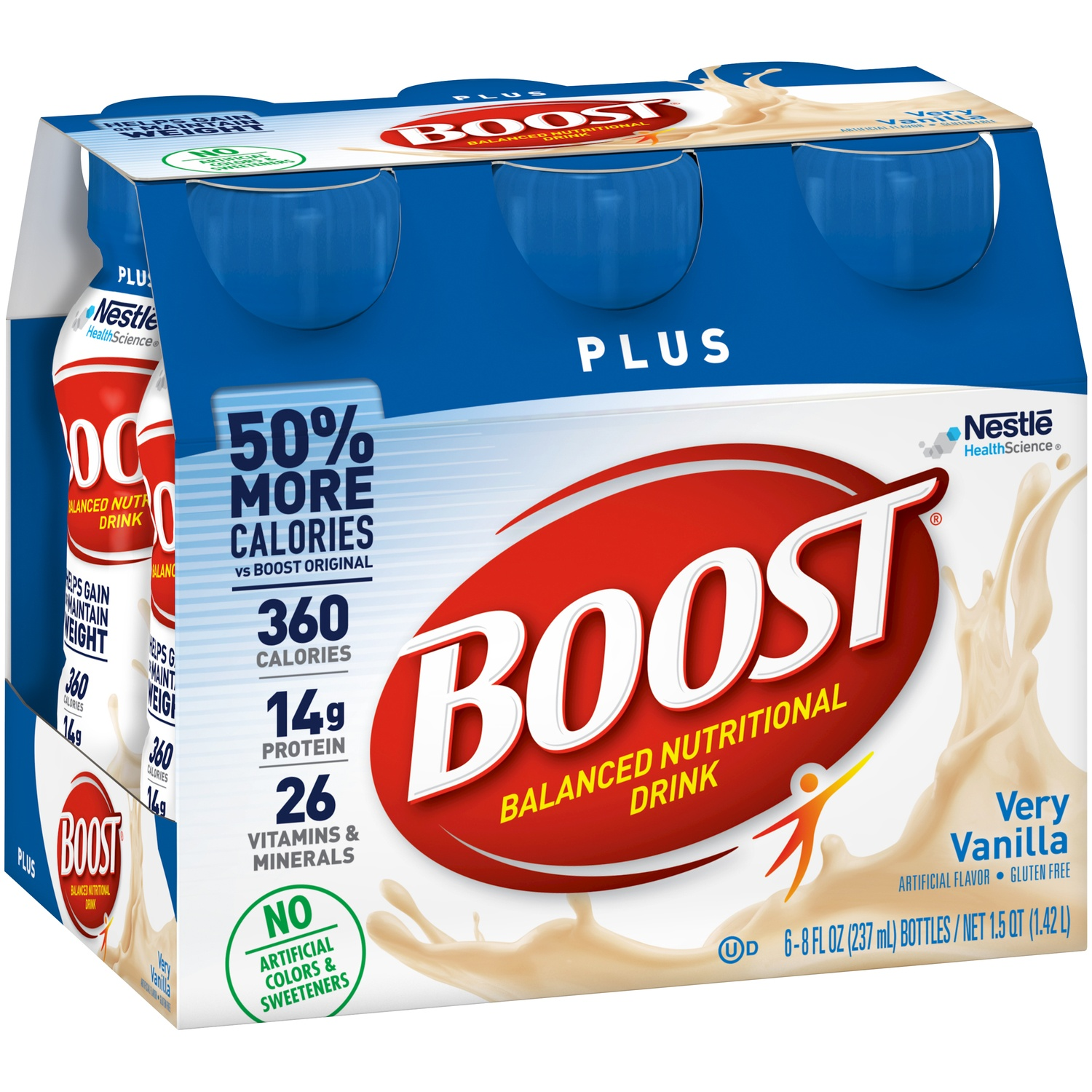 slide 3 of 9, Boost  Plus Complete Nutritional Drink - Vanilla,