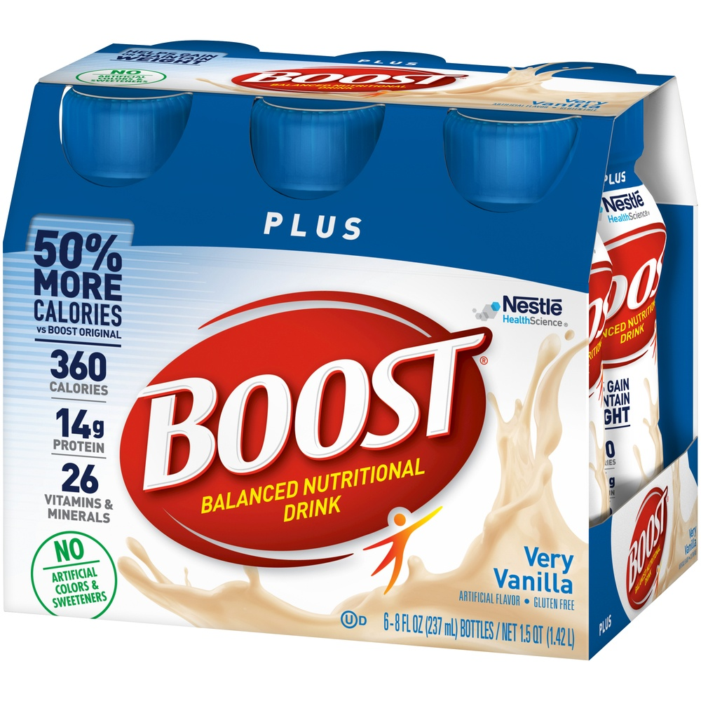 slide 4 of 9, Boost  Plus Complete Nutritional Drink - Vanilla,