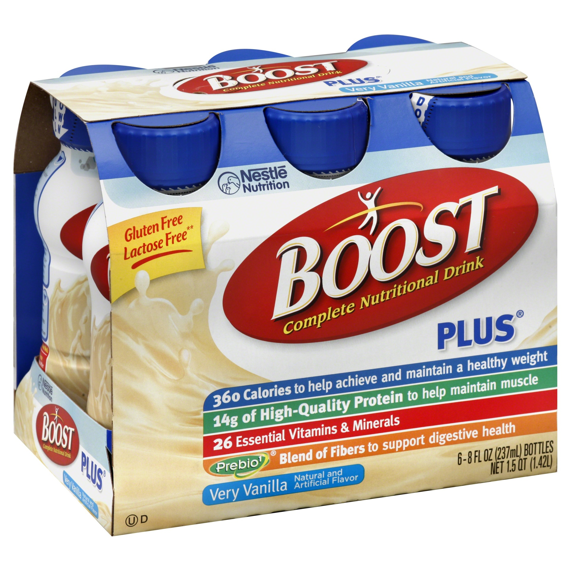 slide 1 of 9, Boost  Plus Complete Nutritional Drink - Vanilla,