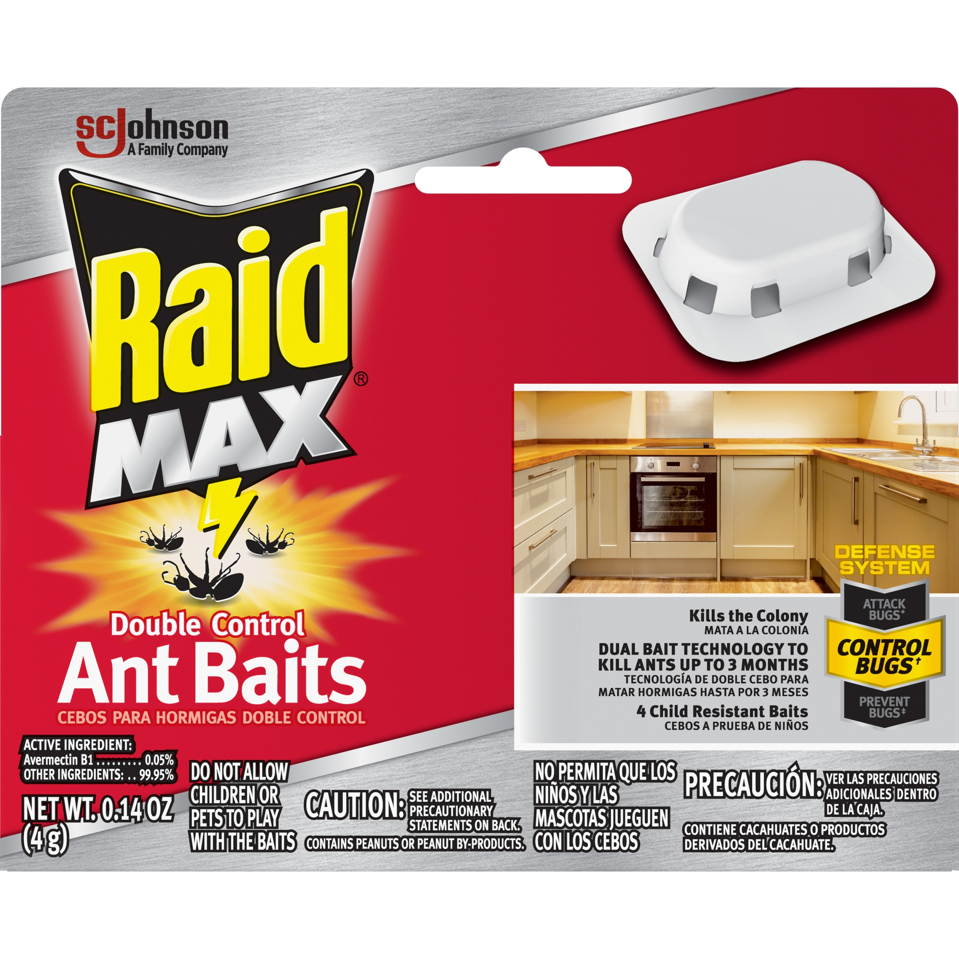 slide 1 of 7, Raid Double Control Ant Baits 4 Pack,