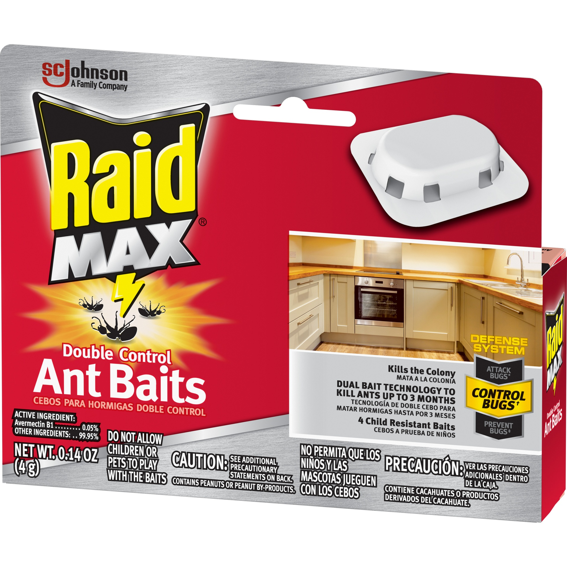 slide 7 of 7, Raid Double Control Ant Baits 4 Pack,