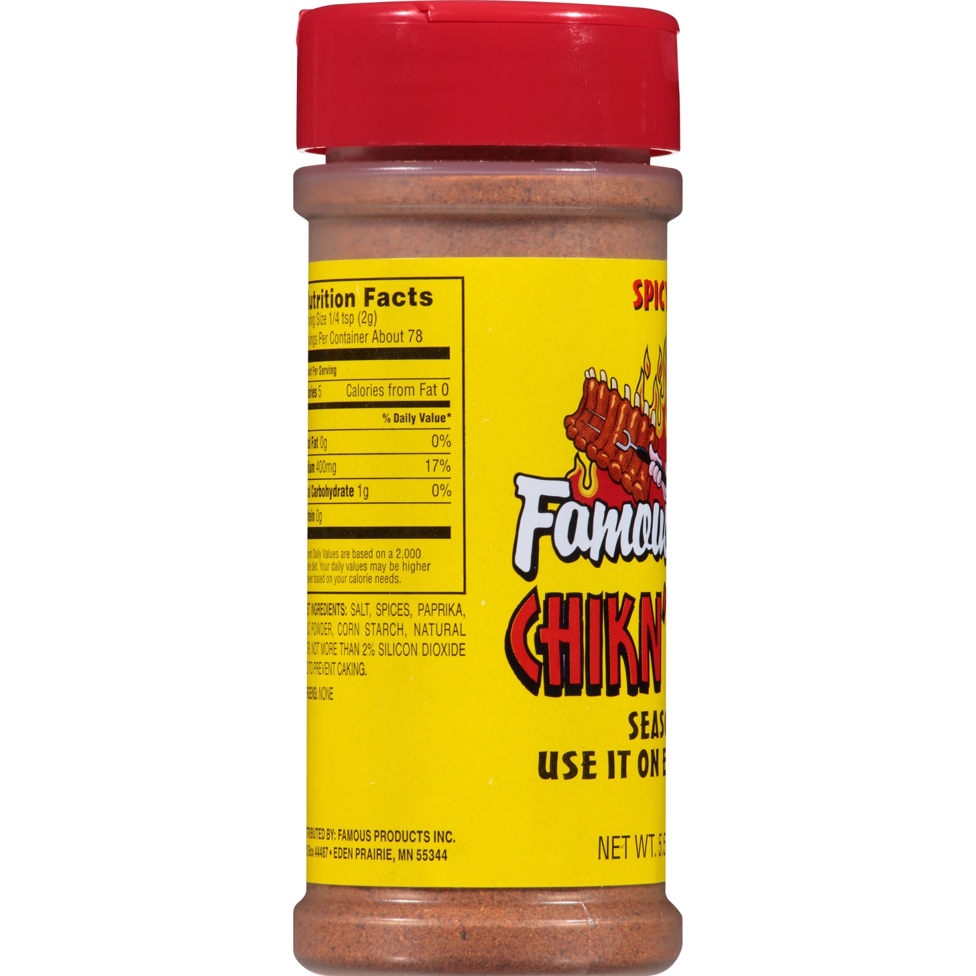slide 2 of 6, Famous Dave's Spicy Hot Chicken' Wing Seasoning Shaker,