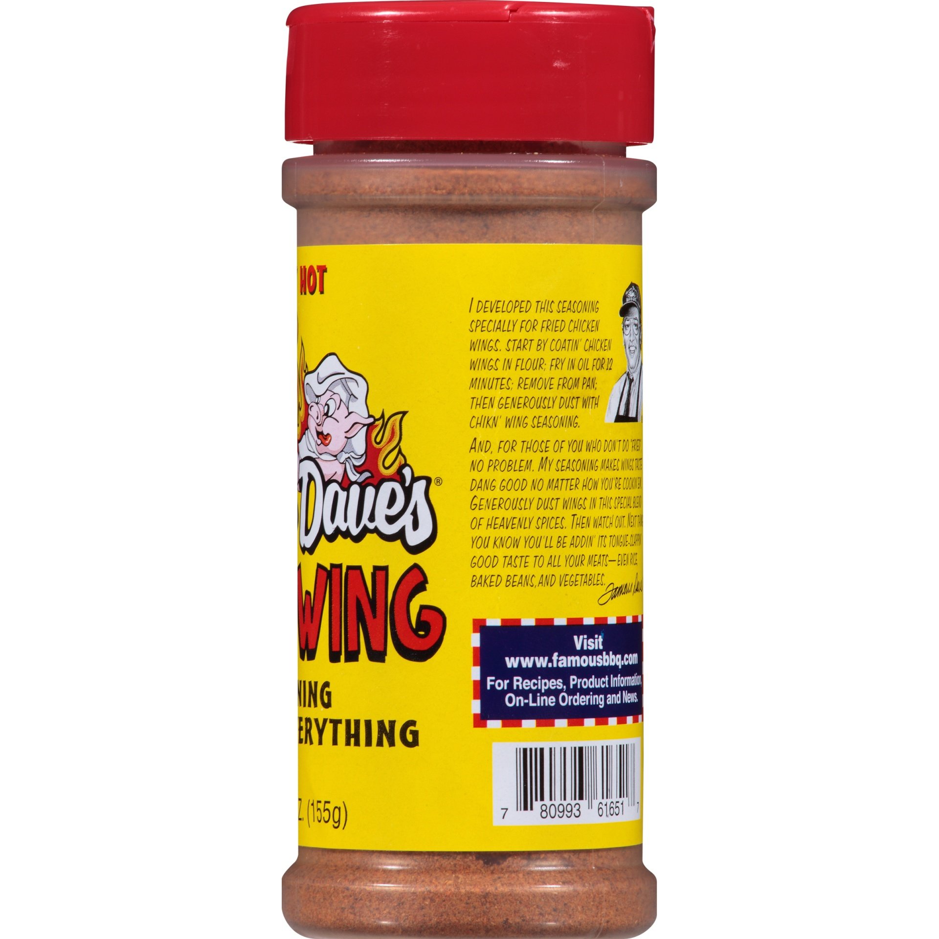 slide 3 of 6, Famous Dave's Spicy Hot Chicken' Wing Seasoning Shaker,