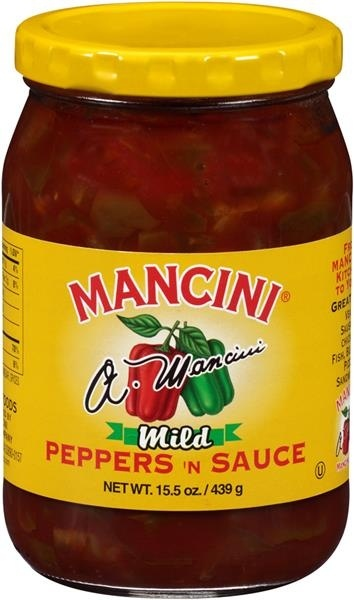 slide 1 of 1, Mancini Mild Peppers 'N Sauce,