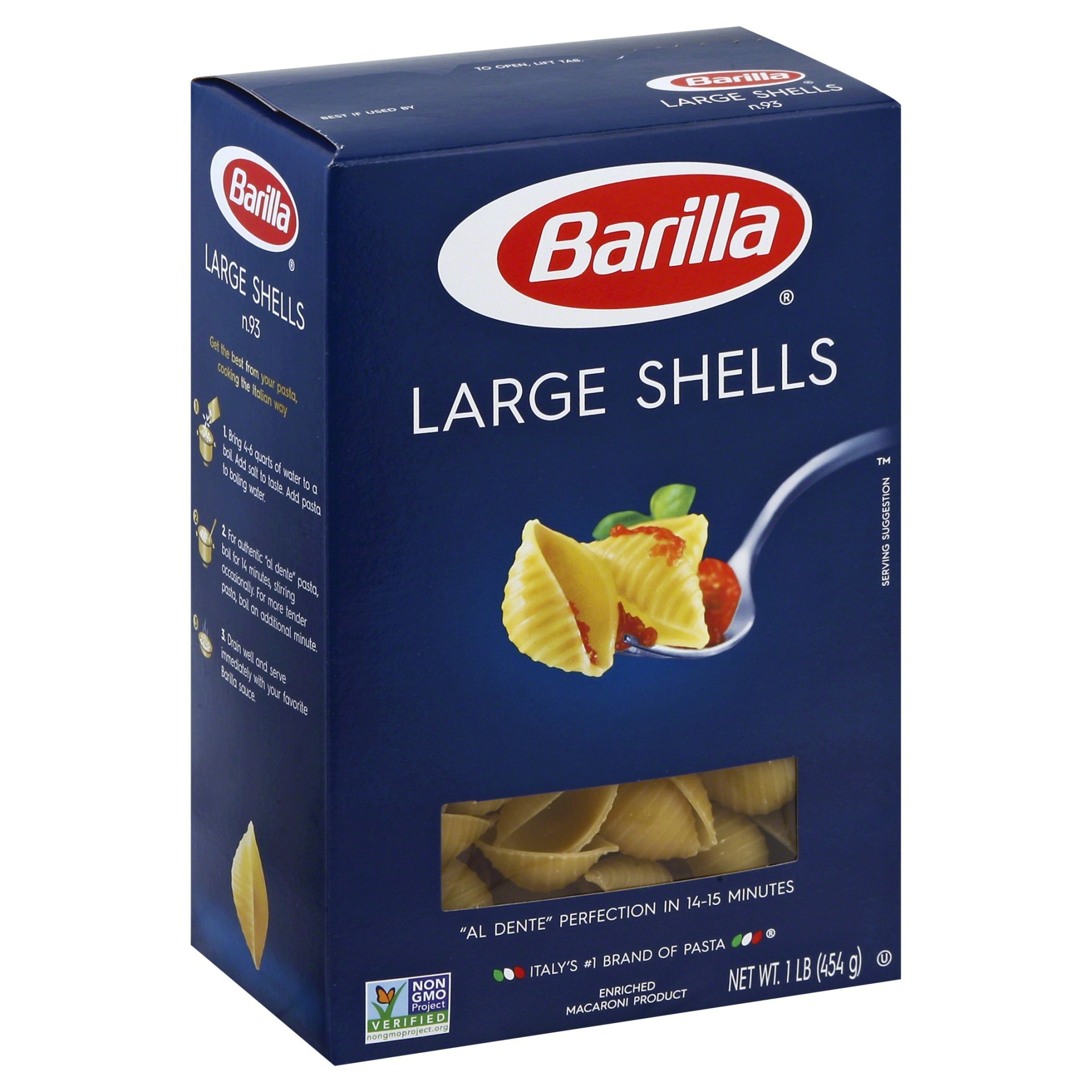 slide 1 of 8, Barilla Large Shell Pasta,