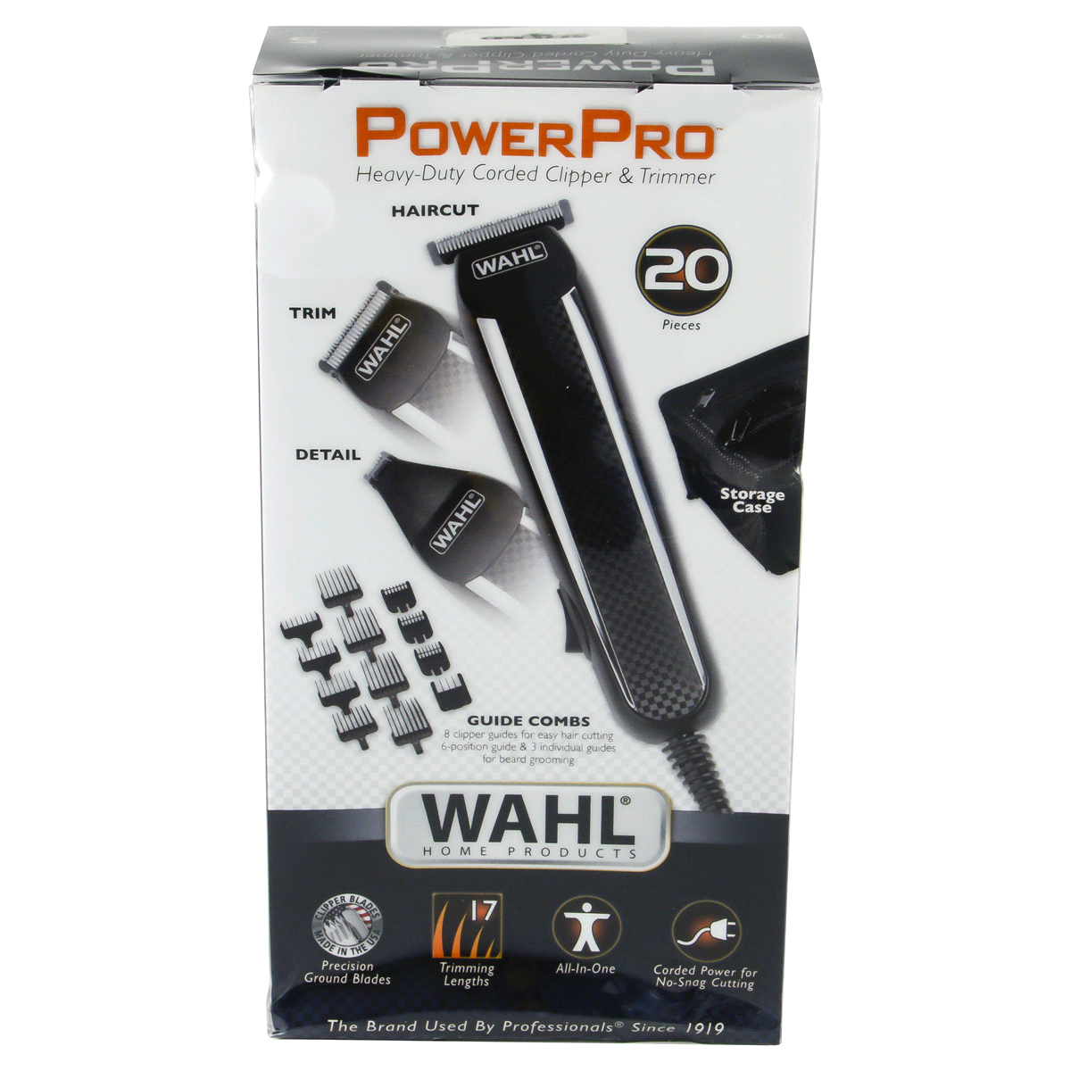 slide 4 of 7, Wahl Power Pro Corded Men's Multi Purpose Trimmer with 3 Replaceable Trimmer Heads - 9686,