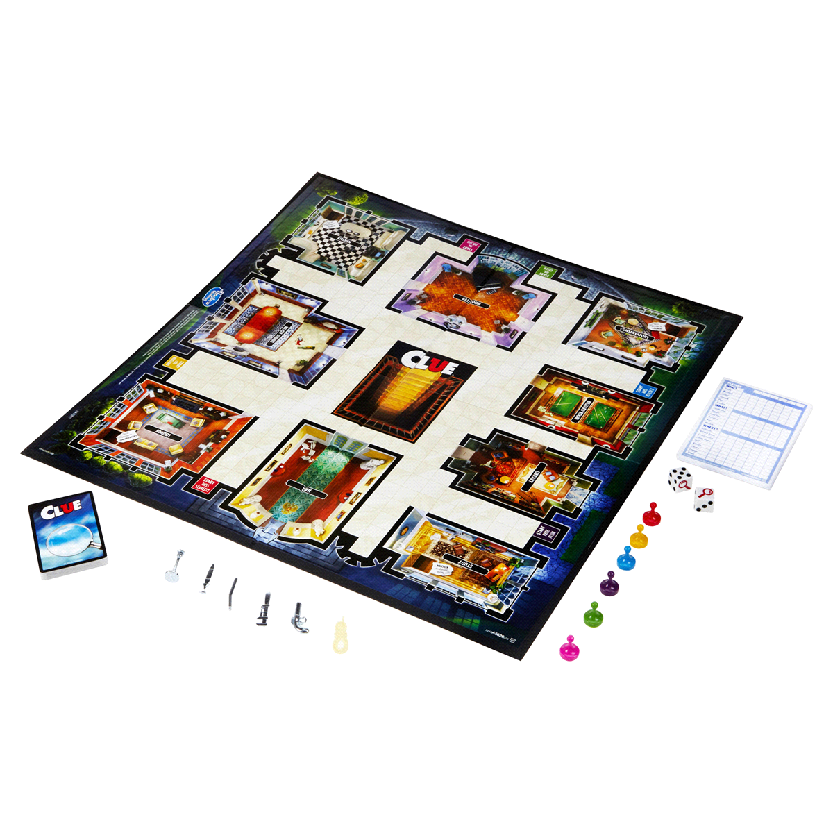 slide 3 of 3, Hasbro Clue (2013 Edition) Board Game,