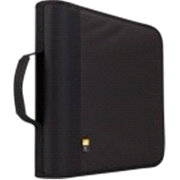 slide 1 of 1, Case Logic 208 Capacity Nylon CD / DVD Wallet,