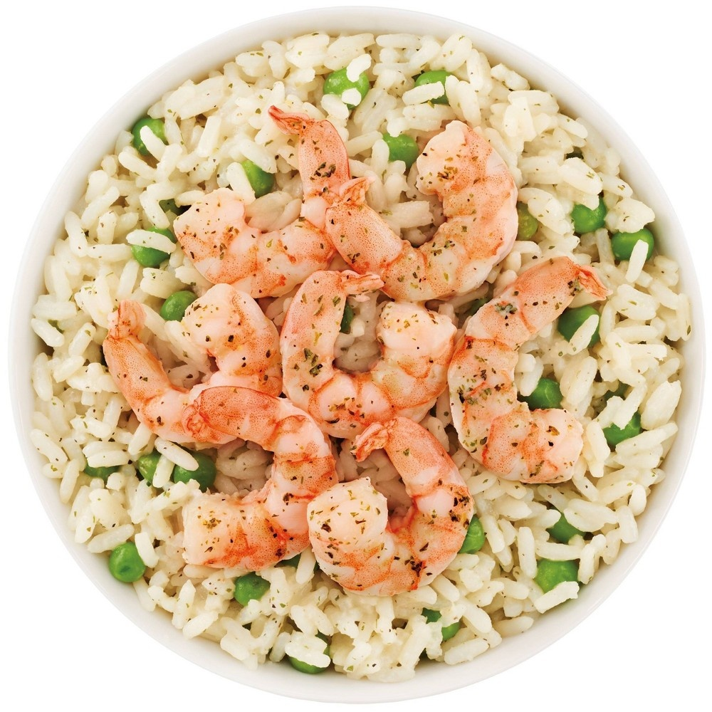 slide 2 of 2, Cheating Gourmet Shrimp Rice Bowl Creamy Parmesan,